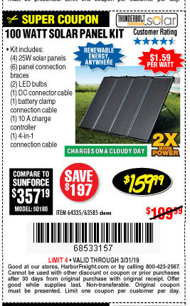 Harbor Freight 100 Watt Solar Kit Scamp Owners International