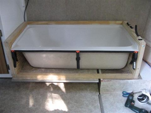 Bathtub In A Scamp 16!